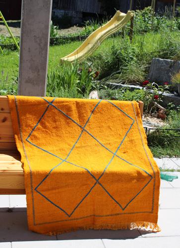 Handmade moroccan wool carpet
