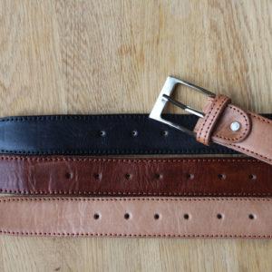 double side men's leather belt